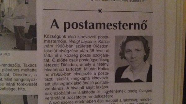 10 éve írták – A postamesternő