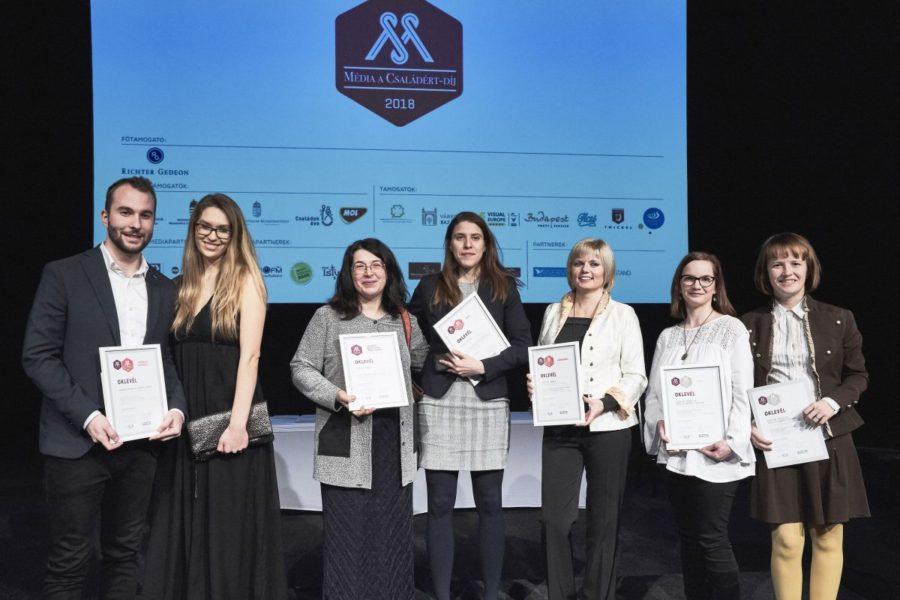 A Média a Családért-díj nyertesei 2018-ban