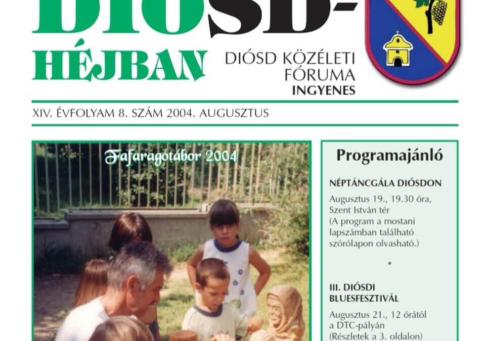 Diósdhéjban címlap egykor Diósd önkormányzati lapja