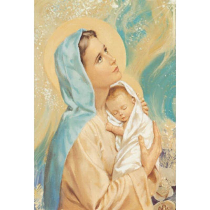 Szűz Mária kis Jézussal Szeresd a gyermekeket