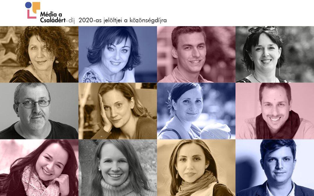 Már lehet szavazni a Média a Családért-díj idei közönségdíjasaira – Diósdi jelöltre is voksolhatunk